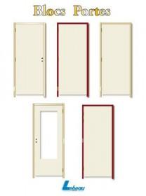 Bloc porte postforme seviac 56x88 93 gp recouvrement for Bloc porte 93