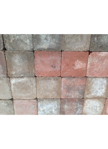 PAVE CAMBELSTONE NEW 15X15X6 ROUGE-BRUN 10.80M2/P