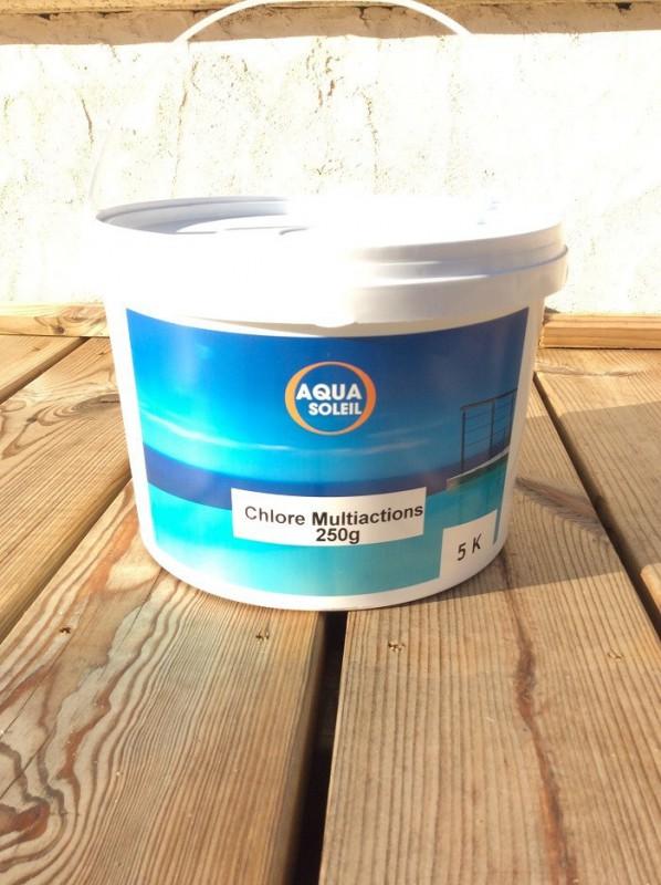 T-MULTIFONCIONS 250 chlore en galets 5kg desinfecte/algues/flocule/anticalcaire
