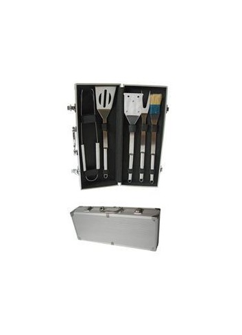 MALETTE 5 ACCESSOIRES INOX BARBECUE REF YK20111