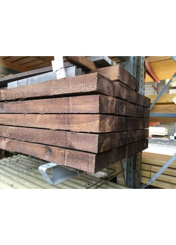 Traverse de chemin de fer pin Cl4 Brune 100x200x2400mm.