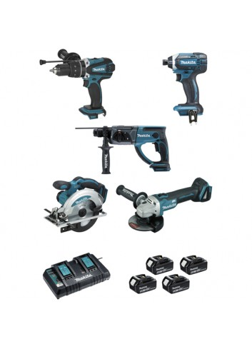 ENSEMBLE DE 5 MACHINES 18 V LI-ION MAKITA