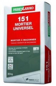MORTIER UNIVERSEL PAREX REF 151 LANKO   35KG 1,9kg/M2/mm épaisseur environ