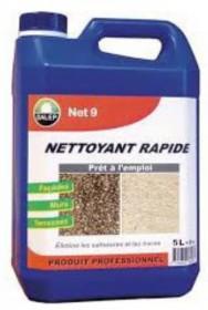 NETTOYANT RAPIDE NET 9  5L (pour 25m²) REF 420005  (mur & sol) ultra-puissant
