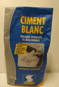 CIMENT blanc semin             sac 5  kg