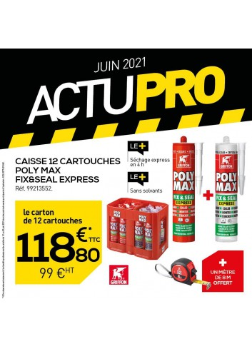 CAISSE 12 CARTOUCHES POLY MAX FIX SEAL EXPRESS