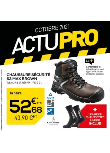 CHAUSSURE SECURITE S3 MAX BROWN